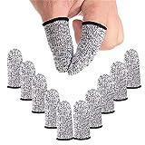 ZEPOHCK 10 Pcs Cut Resistant Protection Finger Cots, Finger Sleeve, Finger Cover Life Extender for Kitchen, Work, Sculpture, Anti-Slip, Reusable