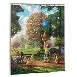Winnie Pooh Duschvorhang, Badezimmer Trennvorhang, starke wasserdichte Fähigkeit, 12 Haken 60 x 72 Zoll Home Creative Kunststoff