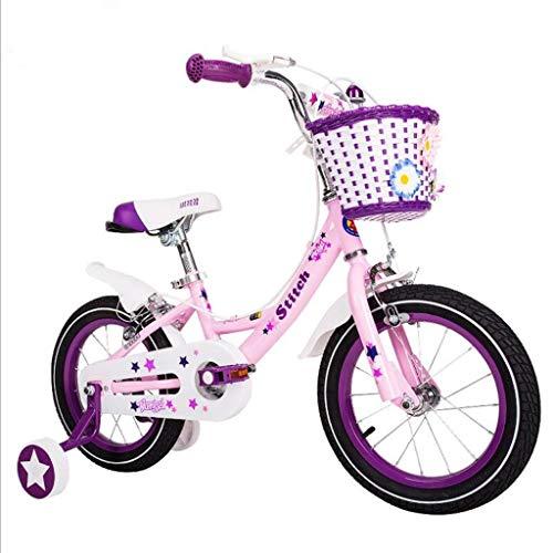 Bicicleta 14-16-18 Pulgadas Transporte de niña de Color Rosa bebé Bicicleta niña...