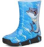 Ladeheid Botas de Agua Zapatos de Seguridad Calzado Unisex Niños Niñas SwkBW42 (Azul Tiburón 42, 21/22 EU)