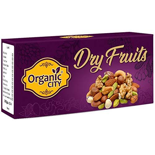 Organic-City Dry Fruits Combo (Almond ,Raisin,Cashew,Pistachio,100g Each x 4=400g)