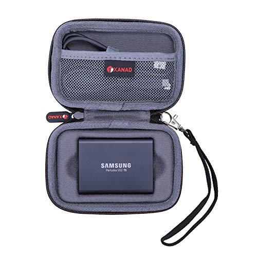 XANAD Hart Reise Tragen Tasche für Samsung Portable SSD T3 T5 250 GB 500 GB 1 TB 2 TB Externe Solid State Drive Laufwerke - Schutz Hülle(Grau)