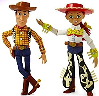 Disney Toy Story Collection Woody Jessie Talking Action Figure Bundle 16''. Perfect Gift for You Child Xmas