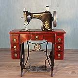 YYY-Ornamenti in Ferro battuto a Mano Antica Macchina da Cucire Modello retrò Puntelli Decorativo Fotografia Negozio di Abbigliamento, 35x15x45