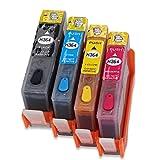 HEMEI 364XL Cartucho de tinta recargable precargado con chips permanentes Compatible para HP Photosmart C5380 5510 5514 5515 6510 7520 7520 6525 5520 5525 5522 5524 impresora