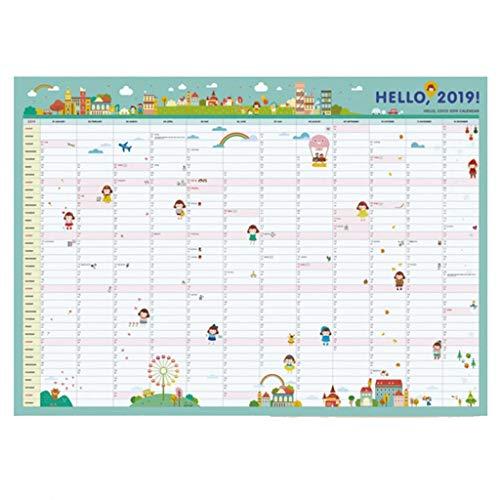 Drukke 2019 kalender voor grote familieorganisatoren, kalender voor kinderkalender 365 muren, maand, weekkalender