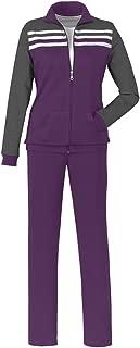 Color Block Pantset withStripe Jacket and Straight Leg Sweat Pants