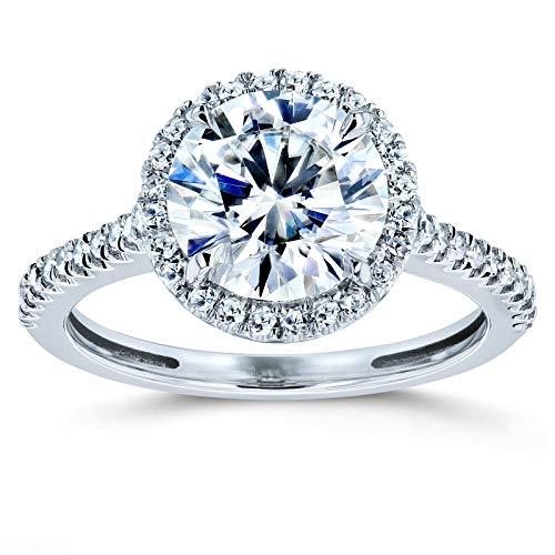 Kobelli Round Brilliant Forever One Moissanite Halo Engagement Ring 2 1/6 CTW 14k White Gold (DEF/VS, GH/I), 5