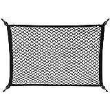 こもれび屋 ラゲッジネット カーゴネット トランクネット カー用品 荷物固定 フック付き OD09 (大 100×60)