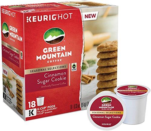 Green Mountain Coffee, Cinnamon Sugar Cookie, K-Cups for Keurig Brewers, 18 C...