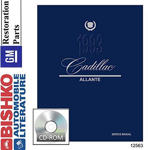 bishko automotive literature Shop Service Repair Manual CD for The 1993 Cadillac Allante
