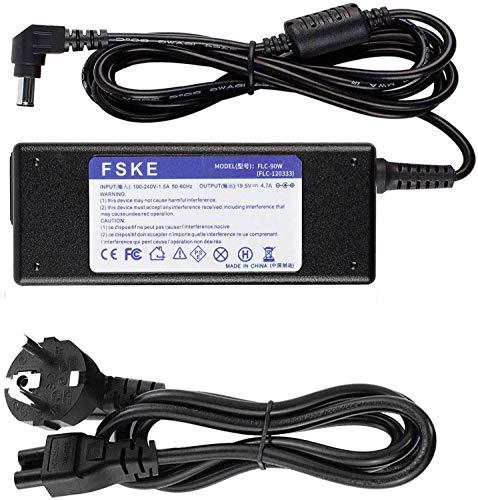 FSKE® 19.5V 4.7A 90W Notebook Netzteil Laptop Ladekabel Ladegerät für Sony Vaio VPC VPCSB VGP-AC19V28 VGP-AC19V48 VGP-AC19V43 VGP-AC19V33 VGP-AC19V31 6.5 * 4.4mm