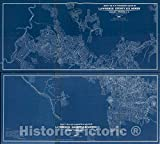 Historic 1897 Wall Map - Maps of Lawrence County, S.D. Mines 18in x 16in