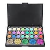 Paleta de sombras de ojos, 29 colores Ojos Pigmento en polvo brillo de maquillaje profesional Brillo mate con polvo brillante Polvo intenso(# 02)