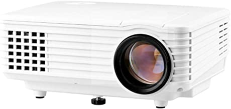 ZGYQGOO RD-805 HD LED Micro Projector Mini Home Home Theater Projector, Business Office Projector, Home Projector HD Home Intelligent Projector,Portable Video Projecto,White