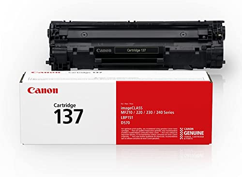 Genuine Canon Toner Cartridge, Black - CAN-137