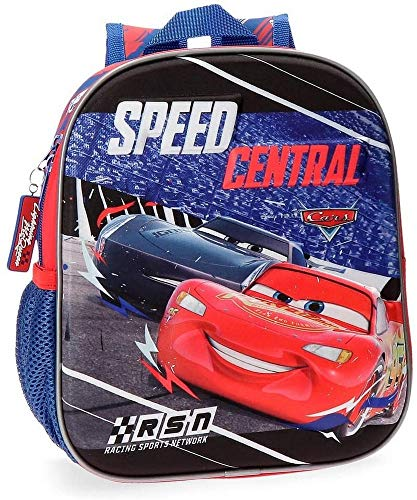 Cars Central Preschool Or Nursery Backpack, 25 cm Front Part In 3D