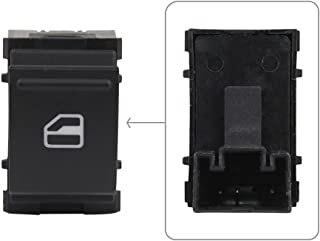 ZBN Power Window Control Switch Single Button Front Rear Left or Right Passenger Side 7L6959855B Fits VW Caddy EOS Golf Jetta Passat Polo Scirocco Sharan Tiguan Touran Touareg