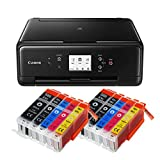 Canon Pixma TS6250 TS-6250 All-in-One 3-in-1 Farbtintenstrahl-Multifunktionsgerät (Drucker, Scanner, Kopierer, USB, WLAN, Apple AirPrint) Schwarz + 10er Set IC-Office XXL Tintenpatronen