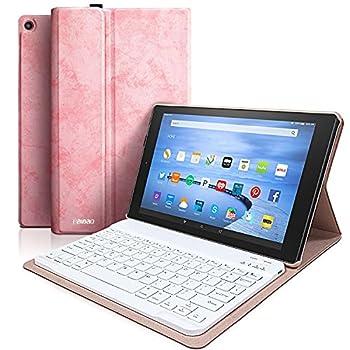 Keyboard Case for Fire HD 10 Tablet  9th Genertion 2019,7th Generation 2017  Detachable Wireless Bluetooth Keyboard Case for Amazon Fire HD 10.1 2019