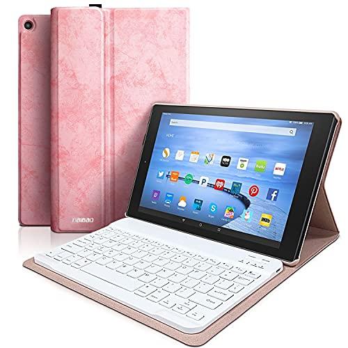 Keyboard Case for Fire HD 10 Tablet (9th Genertion 2019,7th Generation 2017) Detachable Wireless Bluetooth Keyboard Case for Amazon Fire HD 10.1 2019