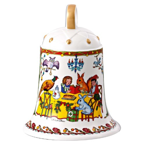 Hutschenreuther 02250-725486-27918 - Grande Campana Natalizia di Porcellana Il Natale del Bosco, in Confezione cartonata da Regalo