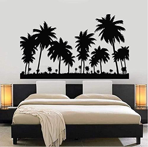 Etiqueta de la pared de viaje palmera playa tropical vacaciones dormitorio decoración...