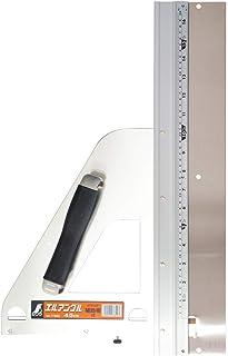シンワ測定(Shinwa Sokutei) 丸ノコガイド定規 エルアングル 取手付き 補助板付き 450mm 77899