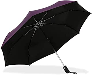 ZYSWP Three Folding Vinyl Sunscreen UV Protection Lightweight Portable Sunny and Rain Dual Use Umbrella (Color : Purple)