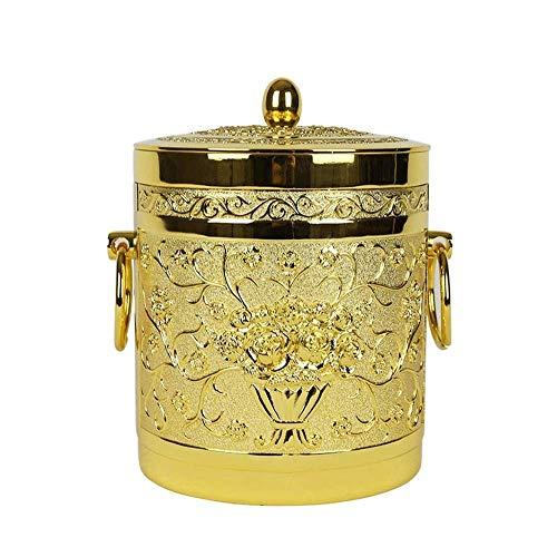 yunyu Ice Bucket for Home/Bar Ice Bucket,KTV European-style Luxury Metal Ice Bucket Double Insulation Ice Bucket With Lid Bar High-end Table Champagne Bucket