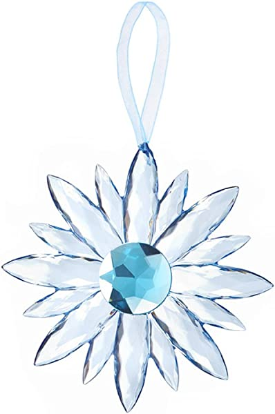 Flower Small Crystal Expressions 5 Inch Acrylic Hanging Jewel Ornament Blue