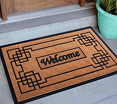 """Welcome Mats for Front Door, 18""""x30"""" Front Door Mat Outdoors, Welcome Mat Outdoor/Indoor Non Slip, Outside Door Mats for Front Door, Hello Doormats for Outdoor Entrance, Easy Clean Entry Mat for Home"""