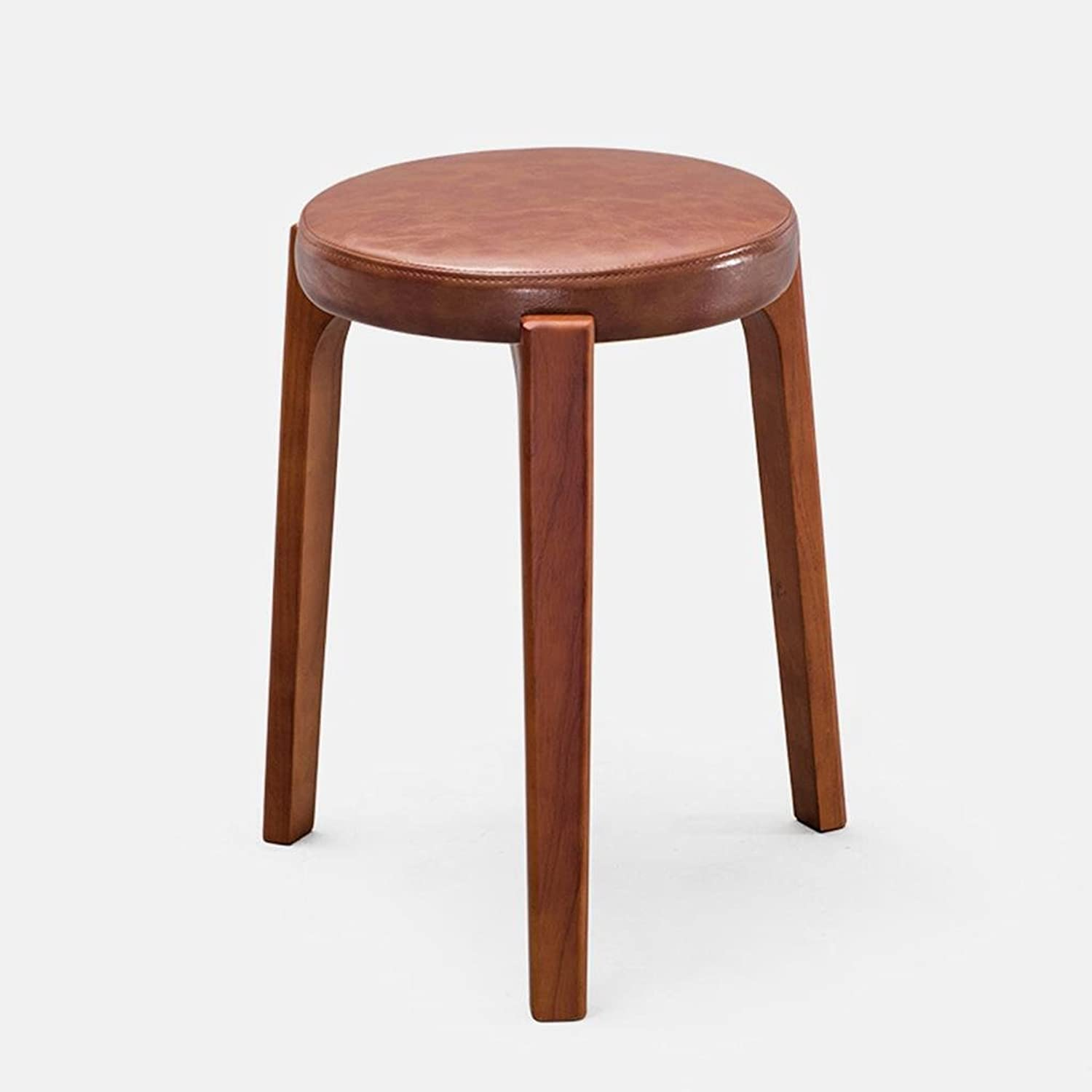 Kitzen Fashion Ideas Solid Wood Stool Bench Dressing Stool Table Stool Household Leather Stool Living Room