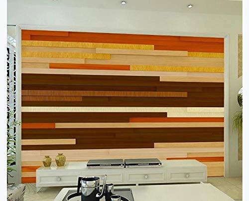 Tijdelijke muurstickers muurstickers voor muurstickers onder geheugen moderne minimalistische gestreepte houten plank horizontale woonkamer TV achtergrond muur 400cmx280cm