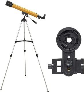 池田レンズ工業 天体望遠鏡 レグルス60 スマホ撮影セット 屈折式 口径60mm 焦点距離600mm オレンジ