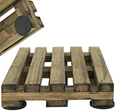 Premium Stained Set of 4 Wood Pallet Drink Coasters Great for Hot and Cold Drinks Beer and Wine Unique Bar Accessory