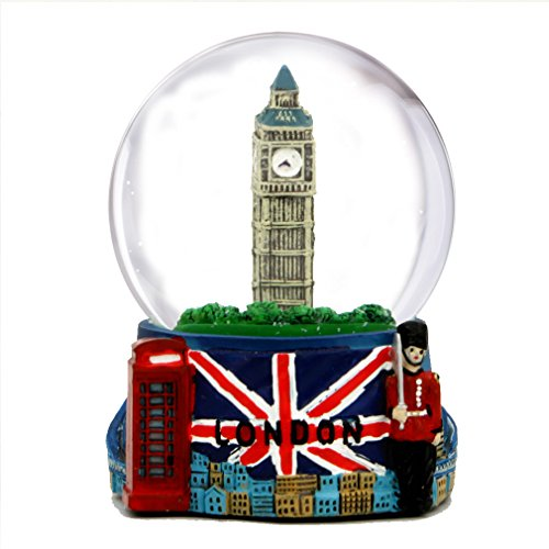 City-Souvenirs London Snow Globe with Big Ben and Union...