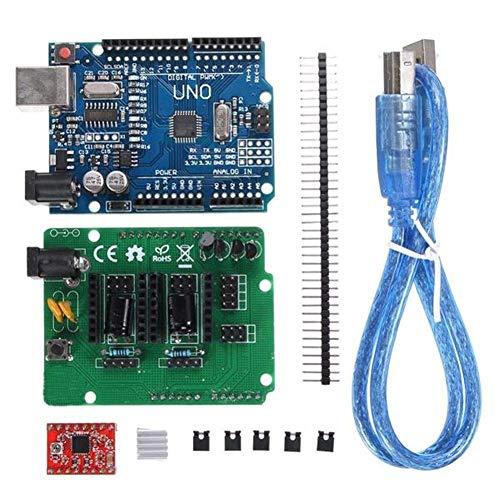Unbekannt Holz Modulplatine gescannter UNO R3 Development Board for DIY ciclop 3D-Drucker-Scanner-Abdeckung Erweiterung Open Source Kit Monitor