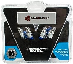 Maxxlink VRCA-10V3 QUADRAtwist 2-Channel RCA Cable, 10-Feet