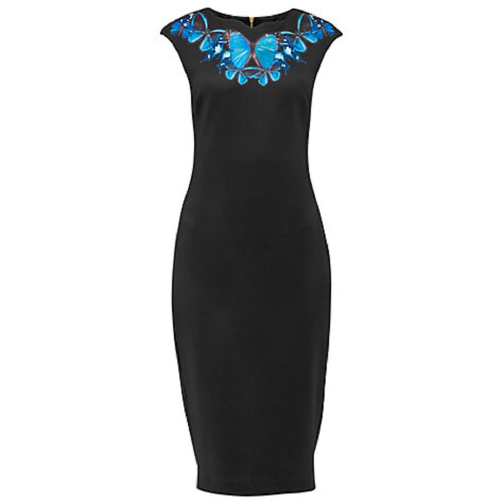 Available at Amazon: Ted Baker Black Ashey Butterfly Necklace Dress 4 (US 10)
