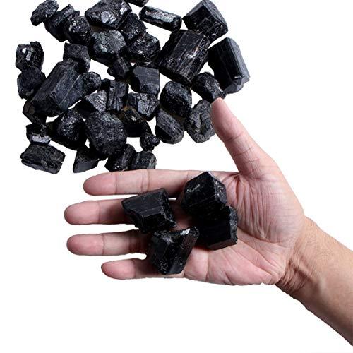 Noir Tourmaline noire naturelle Pierre Roche Min/érale Pierres et min/éraux naturels Particules de tourmaline noire naturelle Granul/és bruts bruts