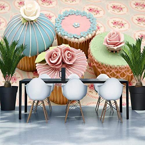 3D vliesbehang fotovlies premium fotobehang cake close-up gereedschap behang wandschilderij 400*280cm #005