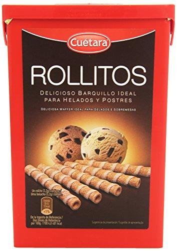 Cuétara Rollitos Delicioso Barquillo Ideal para Helados y Postres, 225g