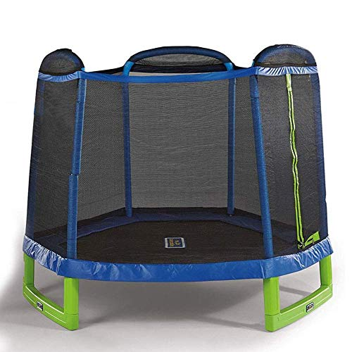 TBTBGXQ Hexagonal Shape Trampolines 7 FT Kids Trampoline with Enclosure Net Jumping Mat And Spring Cover Padding Outdoor Trampoline
