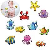 Pegatinas Antideslizantes para bañera, Felly 10 Criatura submarina Mejores Adhesivos de Seguridad Antideslizantes para bañera y Ducha
