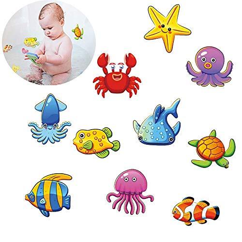 Felly Pegatinas Antideslizantes para bañera, 10 Criatura submarina Mejores Adhesivos de Seguridad Antideslizantes para bañera y Ducha