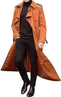 Dihope, Trench Cappotto Uomo Collo Revers Cappotto Maniche Lunghe Doppio Bottone Giubbotto Parka Outwear Casual Primavera ...