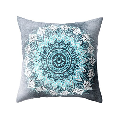Chytaii. Fundas De Cojines Sofá Throw Pillow Casecon Flor de Mandala Fundas De Almohada 45X45Cm para Sofá Y Cama De La Sala Y del Dormitorio