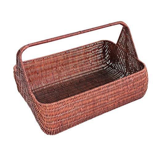 Outdoor-Camping-Picknickkorb, 2 Personen Großer Wicker Willow Picknickkorb, Gartenblumen-Gemüsekörbe, Camping-Einkaufsgeschenkkörbe-Brown  12.99 * 9.44 * 9.84inchs