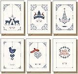 48 Tarjetas de Navidad recicladas, respetuosas con el medio ambiente, contemporáneas…